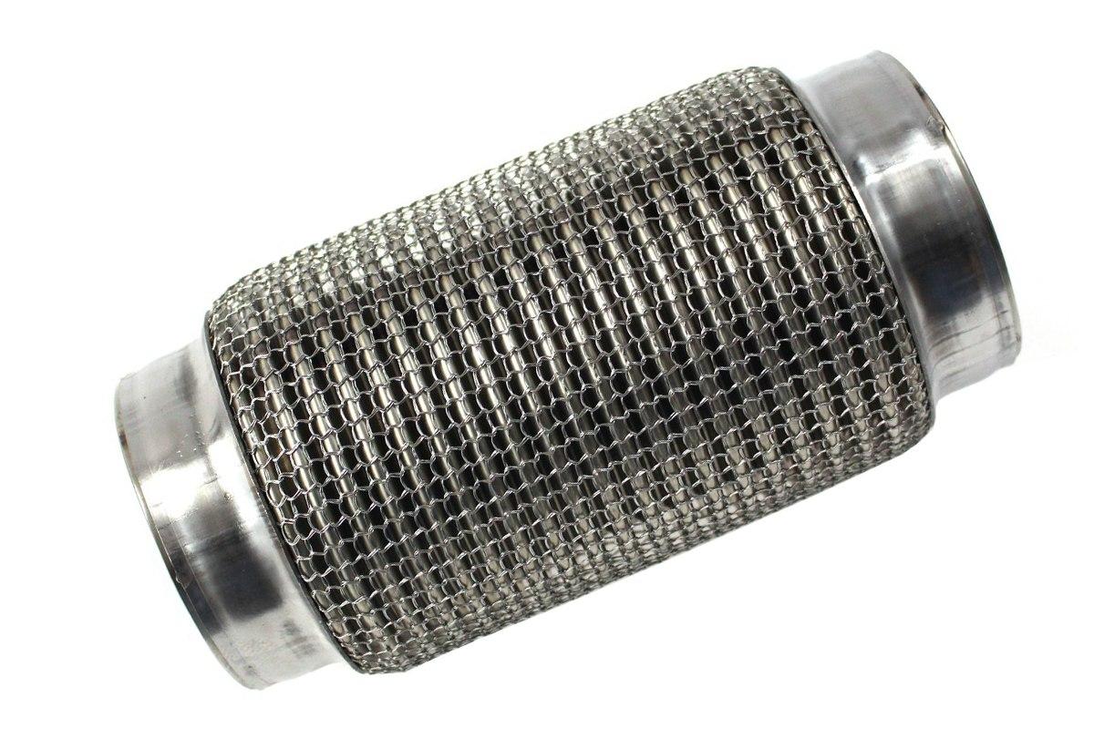 """Wzmocniony łącznik elastyczny wydechu 3.5"""" 200mm nierdzewka - GRUBYGARAGE - Sklep Tuningowy"""